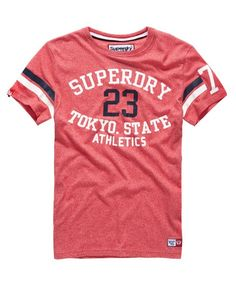 Shop Superdry Mens Trackster Sprint T-shirt in Tag Red Slub. Buy now with  free delivery from the Official Superdry Store. 9016eb17ffc