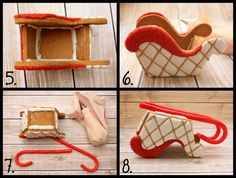 Free Gingerbread Sleigh Template and Tutorial