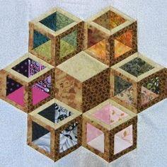 - July tumbling blocks - hollow by ethel