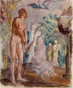Magnus Enckell - Paratiisilintu, luonnos (1925) - 101 x 84 cm