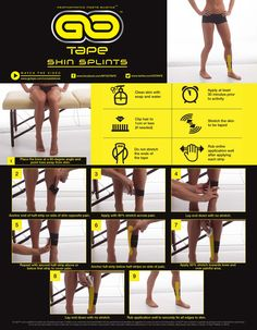 GO Tape Application Instructions for Shin Splints #ShinSplints #ApplicationInstructions #HowToTape