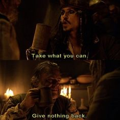 Pirates of The Caribbean. Must be one of my favourite parts in it.