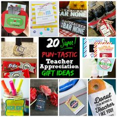 20 Super Pun-tastic Teacher Appreciation Gift Ideas| Spoonful #teacher #appreciation #gift