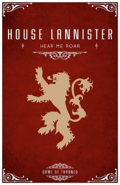 House/casa Lannister escudo de #casaLannister