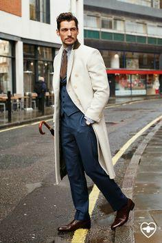 Cream coat | David Gandy