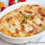 GRATIN DE CARTOFI CU PIEPT DE PUI Great Chicken Recipes, Baby Food Recipes, Romanian Food, Penne, Cheeseburger Chowder, Macaroni And Cheese, Deserts, Food And Drink, Soup