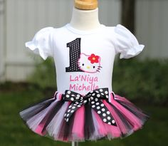 PERSONALIZED Hello Kitty Inspired Tutu Birthday Outfit