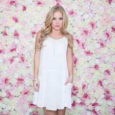 Sheer Bliss Cover-Up Dress In White