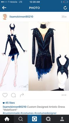 Maleficent skating dress