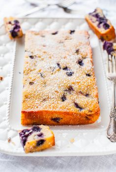 Blueberry Muffin and Buttermilk Pancake breakfast cake