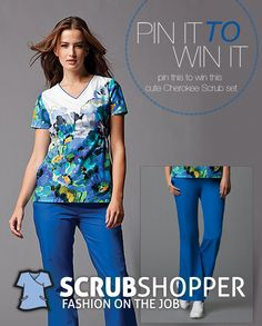 To celebrate National Nurses Week we're giving away scrubs each day. For a chance to win this pair of Cherokee scrubs Tuesday May 8th simply follow ScrubShopper on Pinterest and Repin this pin. Comment below for an extra entry. Good luck!