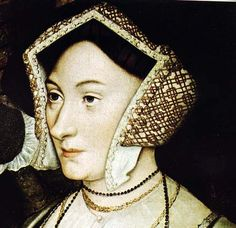 Portrait of Lady Margaret Roper (the daughter of Thomas More) a copy of a lost painting by Holbein. She is wearing a gable headdress.