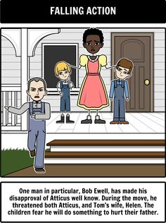To Kill a Mockingbird Characters in a character Map including Boo ...