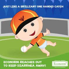 Superb win for Sunrisers Hyderabad! Much like Warner's catch, Econorm reaches out to fix every symptom associated with Diarrhea, from the second day!