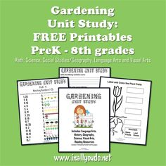 Gardening Unit Study: for Peter Rabbit or Miss Rumphius