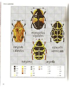 Gallery.ru / Photo # 12 - MARABOUT Insects - tatasha cross stitch insects