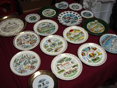 Collection of 17 Vintage State Collector Plates | eBay
