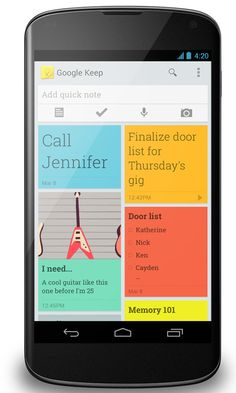 Google Keep. Organize and categorize thoughts, take notes, set goals, create to-do lists, checklists, shopping lists, and more. Beautiful, functional, genius!