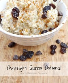 Easy overnight quinoa oatmeal--just add toppings for a quick and healthy, nutrient-rich breakfast