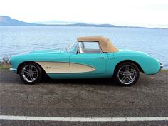 1957 CHEVROLET CORVETTE CUSTOM CONVERTIBLE ohhhh come on now i win lotto ill take this one tooo