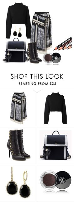 """Fall wear contest"" by hsimon0526 ❤ liked on Polyvore featuring Sacai, DKNY, Balmain, Effy Jewelry and Chanel"