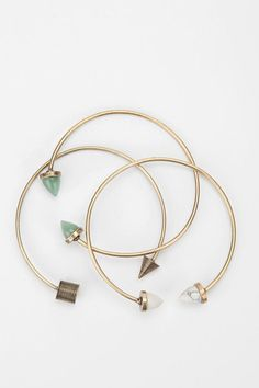 Cute and affordable  Urban Outfitters   Archaeology Bangle Bracelets   Set Of 3, $28