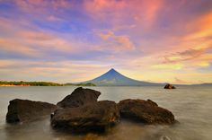 . . . early morning capture at Legazpi Boulevard showing the shades of sunrise and the Mayon Volcano