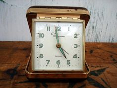 Vintage Travel Clock  Ingraham Clock  Retro by thejabberwockyshop, $10.00