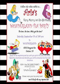 Alice in wonderland invitation tea party by TheCreationBoutiques
