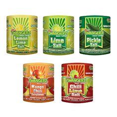 Twang Twangerz Flavored Salt Snack Topping Lemon, Lime, Pickle, Chili & Mango (Assorted 10 Pack) - http://spicegrinder.biz/twang-twangerz-flavored-salt-snack-topping-lemon-lime-pickle-chili-mango-assorted-10-pack/