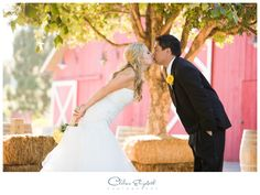 Rustic Barn Wedding | Husband & Wife Kiss | Camarillo Ranch House - Camarillo, Ca | By: Chelsea Elizabeth Photography | chelseaelizabeth.com