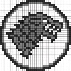 Game_of_Thrones_Stark_Sigil_grey by Moustacheuaquestion on Kandi Patterns