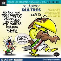 """#ElCartonDelDia """"CLÁSICO NACIONAL DÍA 3"""" @chivas@ClubAmerica #ClasicoNacional #ChivasVsAmerica Zheko Caricaturista"""