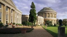 Looking along the front of Ickworth House towards the rotunda