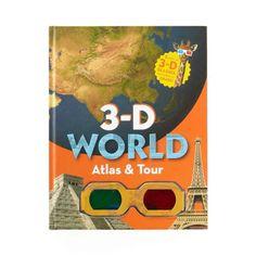 3-D WORLD ATLAS & TOUR BOOK