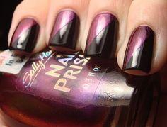 Chloe's Nails: Sally Hansen Burgundy Orchid & Tape