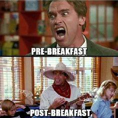 Breakfast is my favorite.