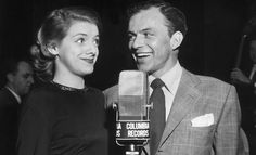 Rosemary Clooney & Frank Sinatra   they look so young and squirrely.  lol!