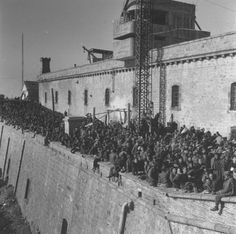 Spanish Civil War. Barcelona: Montjuic prison 1939