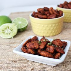 Snack on a handful of these Chipotle Honey Lime Almonds today!
