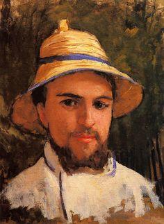 "Gustave Caillebotte ""Self Portrait Wearing a Summer Hat"""