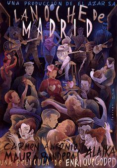 """Cartel para el decorado de """" La Mala Educacion """" de Pedro Almodovar coleccion El Deseo"""