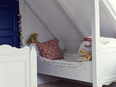 custom beds in the eaves of the attic, would work perfectly in ours.