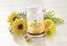 Bee pollen is a holistic remedy used throughout the world. Unfortunately the vast amount of uses that pollen can be used for are often overlooked. What is Pollen? Bee Pollen is made by honeybees, a… Forever Living Aloe Vera, Forever Aloe, Allergies Au Pollen, Natural Allergy Relief, Le Pollen, Bee Propolis, Chocolate Slim, Acide Aminé, Forever Living Products