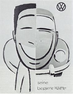 VW Beetle (1954) (andreboeni) Tags: classic car publicity advert advertisement cars automobiles voitures autos automobili classique voiture retro auto oldtimer klassik classico classica illustration cartoon vw volkswagen beetle coccinelle kafer kever