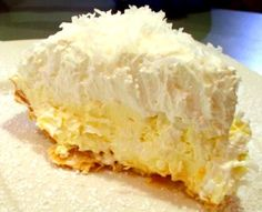 Coconut Banana Cream Pie Heads up coconut lovers, this pie is amazing, totally decadent, and the coconut crust is absolutely awesome.  The crust takes it from ordinary to sublime. This is supposedly the recipe for Lawry's Coconut Banana Cream pie.