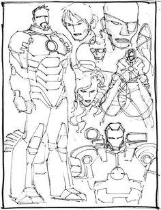 Comic Book Covers, Comic Books, Iron Man Art, John Romita Jr, Jr Art, Marvel Comics Art, Drawing Techniques, Drawing Reference, Art Sketches