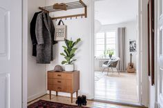 Charming retro entryway
