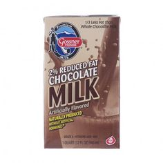 Gossner's Shelf Stable Milk Reduced Fat 2% Chocolate Milk - 32 Oz Carton (This stuff is seriously GOOD). Great for school lunchboxes, emergency kits, and road trips.