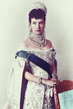 The Tsar's mother: Dowager Empress Maria Feodorovna Tsar Nicolas Ii, Tsar Nicholas, Royal Pic, Anastasia, Christian Ix, Royal Jewelry, Russian Jewelry, Jewellery, Maria Feodorovna